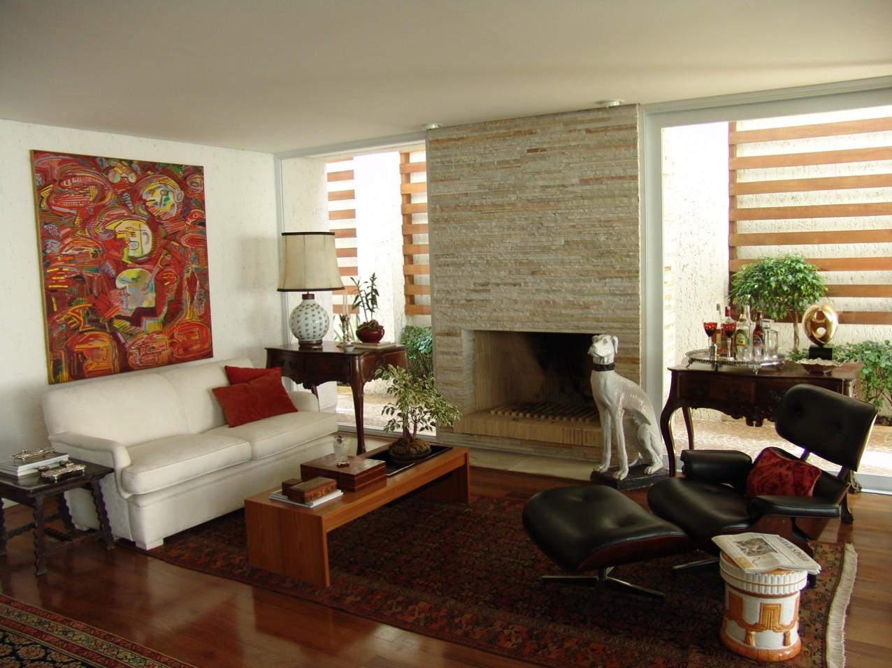 Obra residencial Pinheiros I - Sala de estar