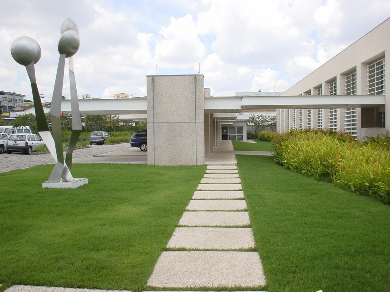 Obra industrial Durr do Brasil - Via de acesso