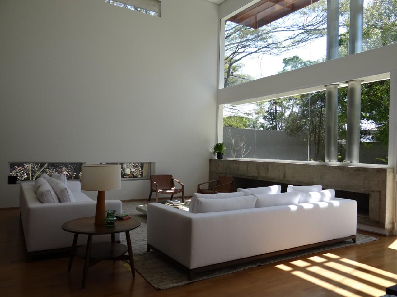 Obra residencial alto da Boa Vista IV - Sala de estar