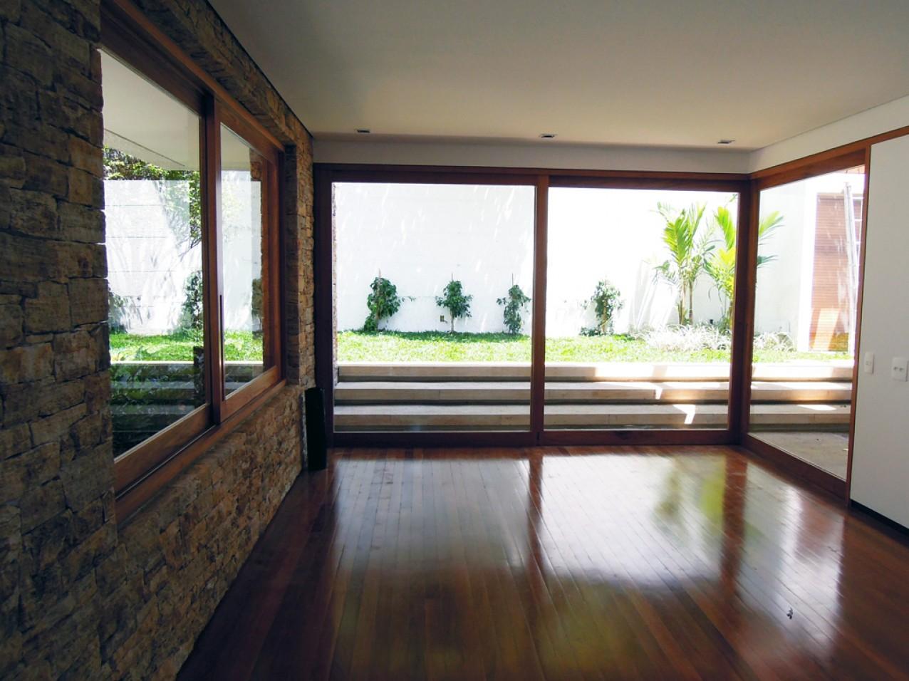 Obra residencial Morumbi V - Sala ampla